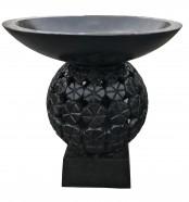Black Stone Bird Bath