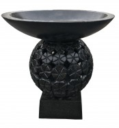 Black Stone Bird Bath