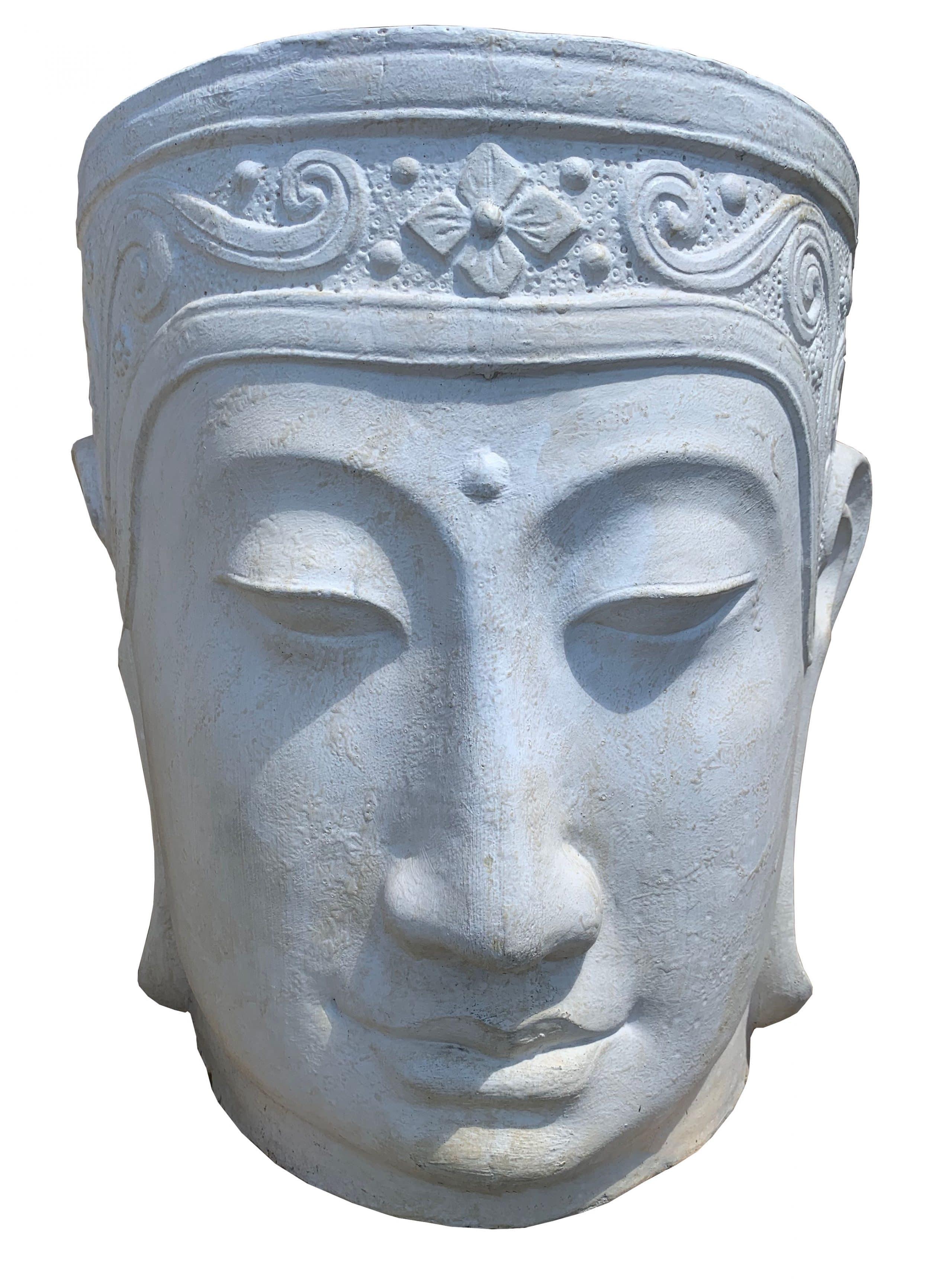 White washed Buddha Vase